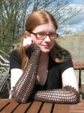 Luce - fingerless opera gloves